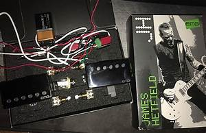 Emg James Hetfield Het Set Pickups Black Chrome