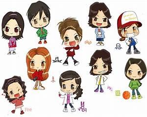 cute anime chibi friends