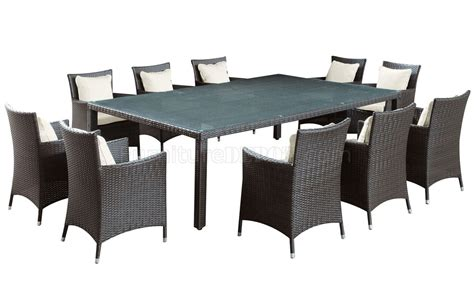 vista 11pc outdoor patio dining set by modway