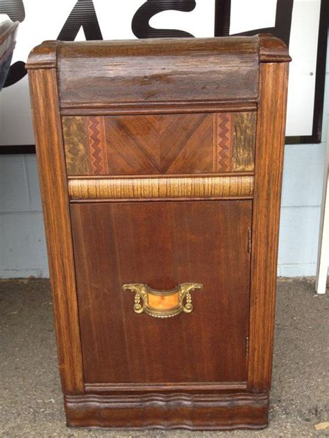 art deco waterfall nightstand table  inlay