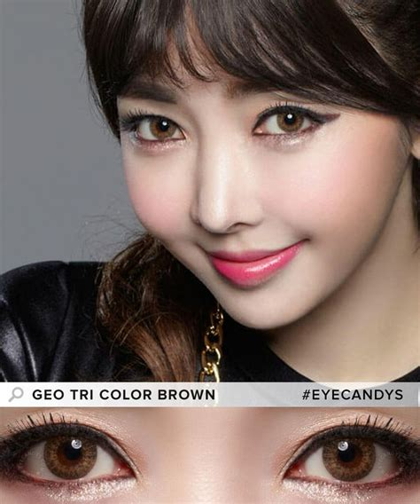geo tri color brown 10 images about coloured contact lenses for on