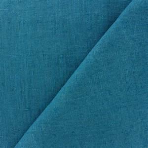 Tissu Velours Bleu Canard : tissu lin lav thevenon bleu canard x 10cm ma petite mercerie ~ Teatrodelosmanantiales.com Idées de Décoration