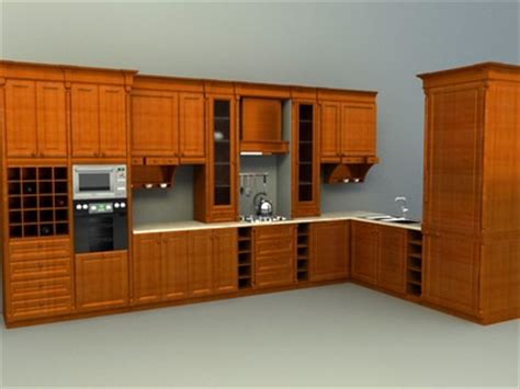 kitchen cabinet cad kitchen accessories 3d models collection 2386