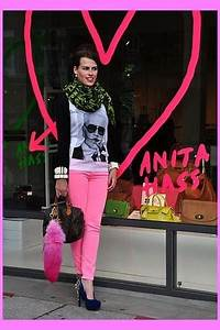 Crimson Louis Vuitton Scarves Hot Pink Zara Jeans Black