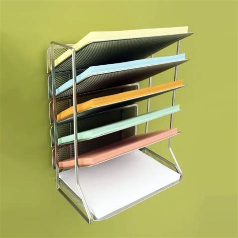Office Desk Rack by Seville Classics Office Desk Organizer Mesh 6 Trays New