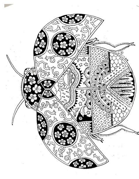 coloriage coccinelle  paper art coloriage ladybug