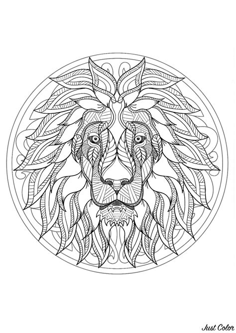 lion mandala head hesitate majestic prepare result give colors don mandalas animals harmonious sending