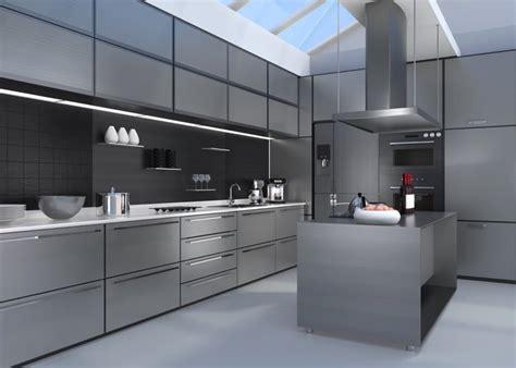 cuisine inox cuisine métal et inox 20 idées déco industrielles pour une cuisine urbaine