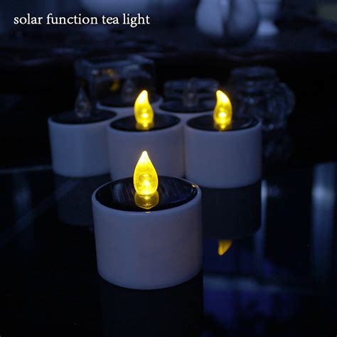 6pcs solar function decorative led tea light candle