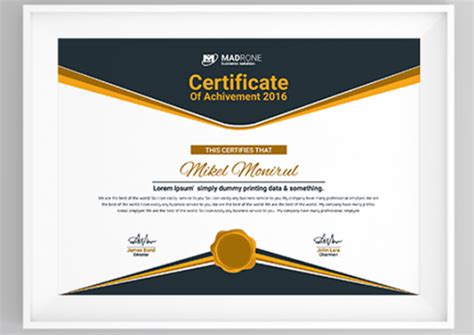 multipurpose certificate templates  award designs