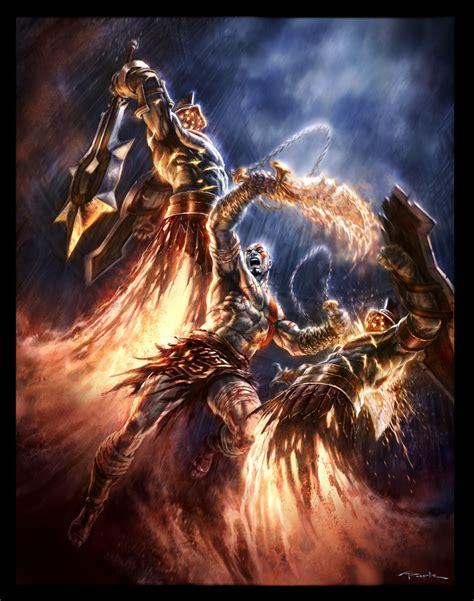 God Of War Psp Marketing 02 By Andyparkart On Deviantart