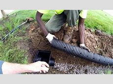 How to install French Drain – Apple Drains Orlando