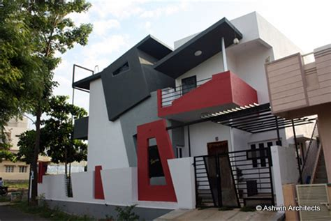 front elevation house design by ashwin architects