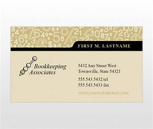 Accounting bookeeping services business card templates for Accounting business card templates