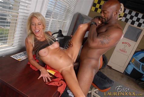 Mature Slut Erica Lauren Bounces On A Black Shaft