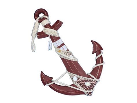 Decorative Anchors by Buy Wooden Rustic Decorative Anchor W Hook Rope And