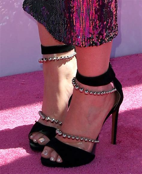 meghan trainors sexy feet  pvc sandals  floating