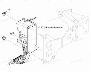 Polaris Side By Side 2016 Oem Parts Diagram For Engine  Throttle Pedal All Options