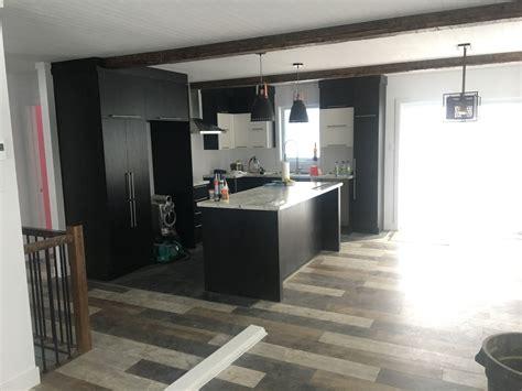 plancher bois cuisine cuisine plancher bois grange 2 construction d st onge
