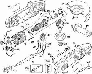 Dewalt Dw400 Angle Grinder Parts  Type 2  Parts