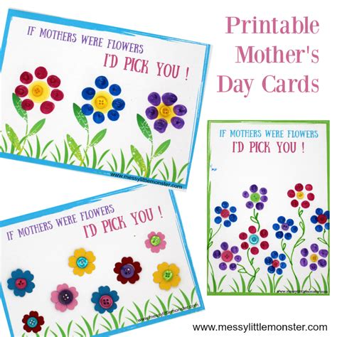 s day card templates for preschoolers mothers day card printable a fingerprint keepsake for