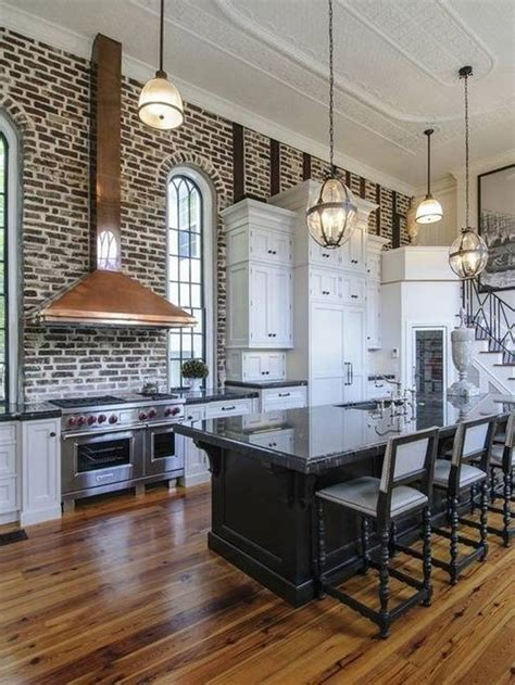20 beautiful brick and kitchen modern kitchen exposed wall brick and open kitchen floor
