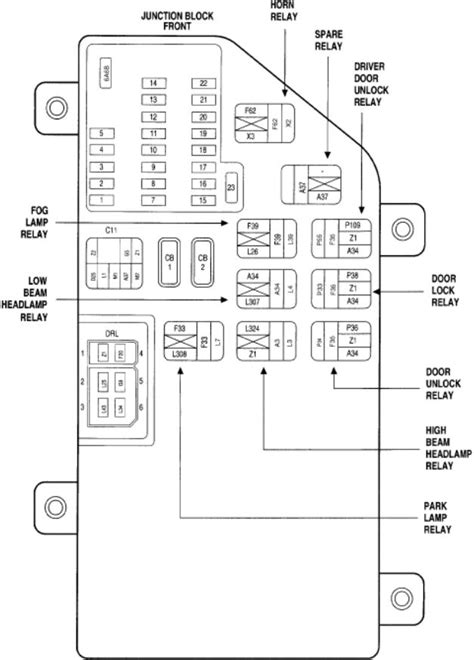 2000 Chrysler 300m Fuse Box by Where Is The Brake Light Relay Located On A 1999 Chrysler 300m