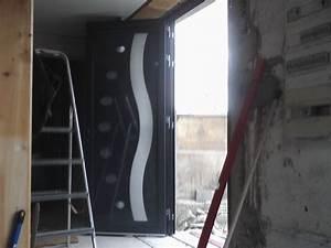 Pose Porte D Entrée : pose de la porte d 39 entr e notre loft ~ Melissatoandfro.com Idées de Décoration