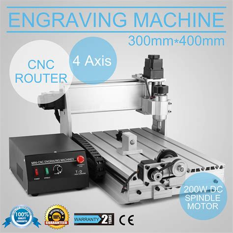 4 axis 3040 cnc router engraver engraving drilling milling machine ebay