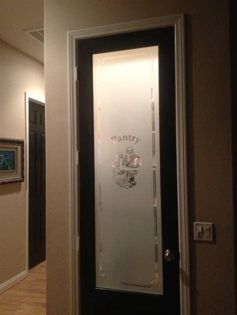 black door   frosted pantry door current home