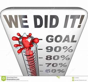 We Did It Thermometer Goal Reached 100 Percent Tally Stock ...