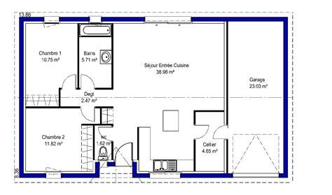 plan de maison plain pied 4 chambres lina contemporaine maisons lara