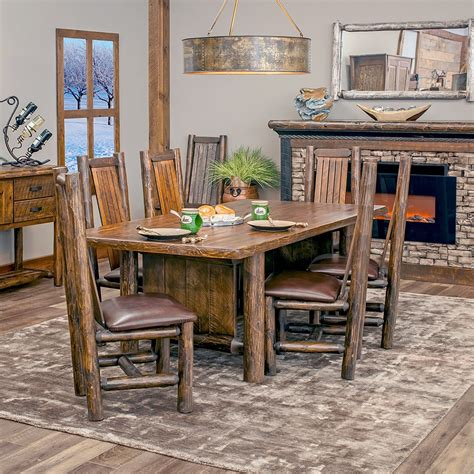 Rustic Dining Set by Woodland Creek S Log Furniture Place