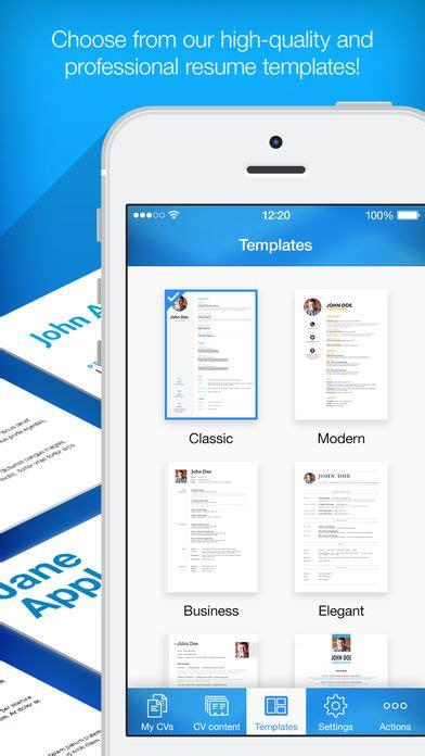 resume builder resume creator app voor iphone en