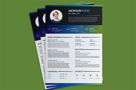 beautiful resume cv design template  psd file good