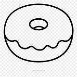 Donut Coloring Pages Doughnut Clipart Ultra Pinclipart sketch template