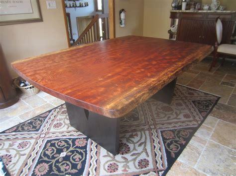 handmade  edge bubinga slab kitchen table