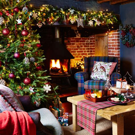 country homes dressed  christmas ideal home