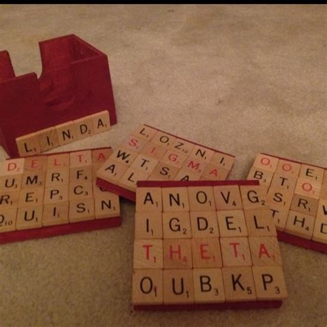 Pinterest Inspired Personalized Scrabble Coaster Set