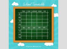 Beautiful school timetable Vector Free Download