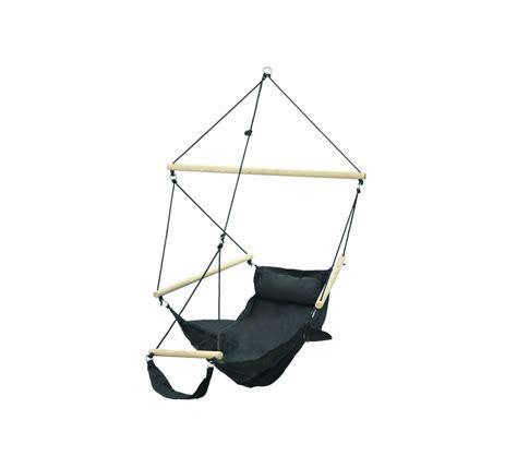 chaise hamac suspendu fauteuil suspendu design noir amazonas