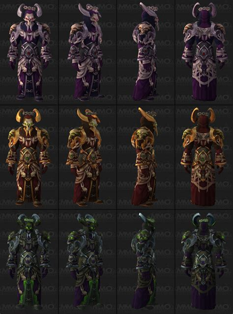 tier armor sets warrior mmo champion