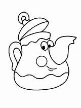 Coloring Teapot Pages Tea Little Pot Printable Funny Children Clip Colouring Sheet Cups Cup Print Fullsize Template Coloringhome sketch template