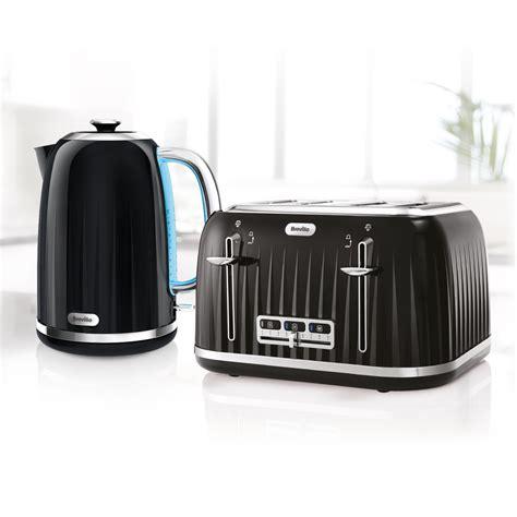 toaster kettle sets impressions collection kettle toaster set black breville