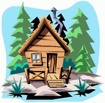Cabin Clip Clipart Camp Summer Mountain Settlers