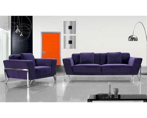 Purple Contemporary Sofa by Contemporary Purple Fabric Sectional Sofa 44l0654