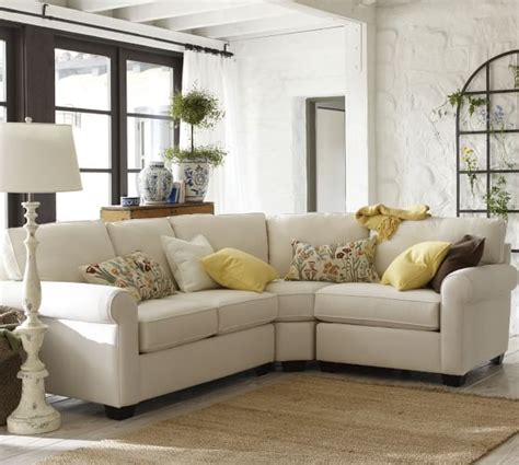 pottery barn sectional build your own buchanan roll arm upholstered sectional