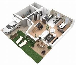 Plan De Maison 2 Etage Plan Maison 3d Architecture