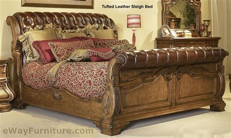 sleigh bed giovanna tufted leather sleigh bed Leather