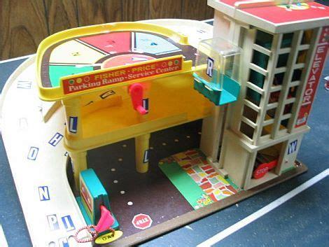 fisher price garage speelgoed uit de jaren 80